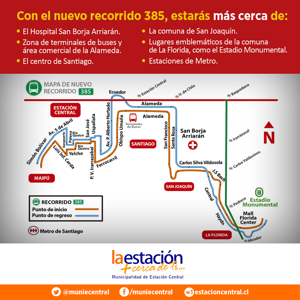 Estación Central 385 Transantiago